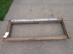 Rear hallway window frame