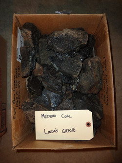 Mid sized coal rocks