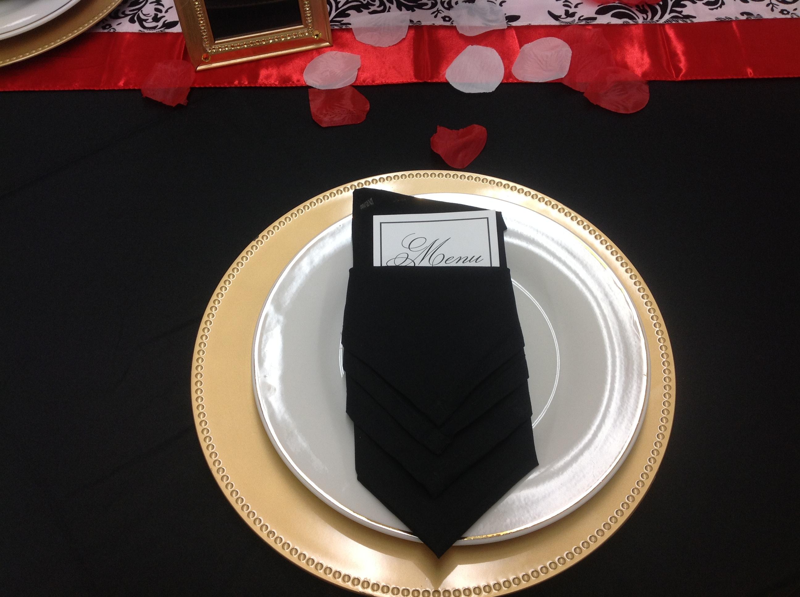 A.L.I.V Gold Charger Black Napkin.JPG