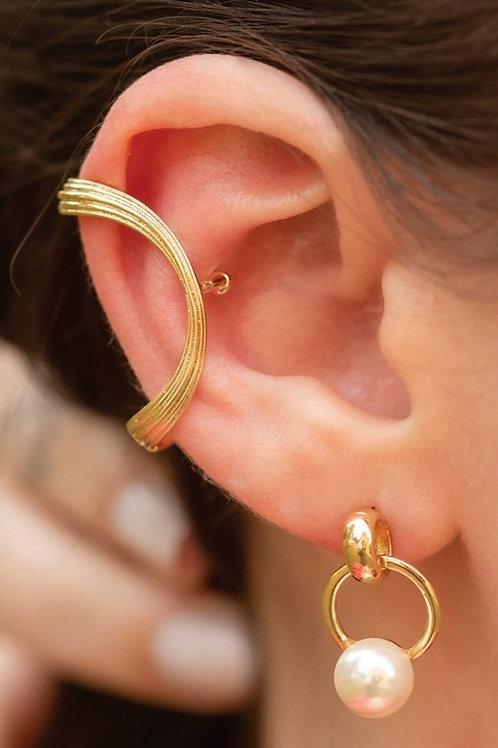 Piercing Fake Folhado a Ouro Formato Anatomico