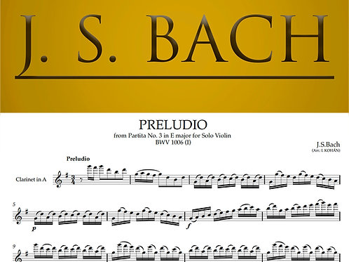 Preludio - from Partita No. 3 in E major