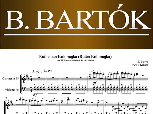 Bartók Ruthenian Kolomejka (No. 35 from the 44 duets