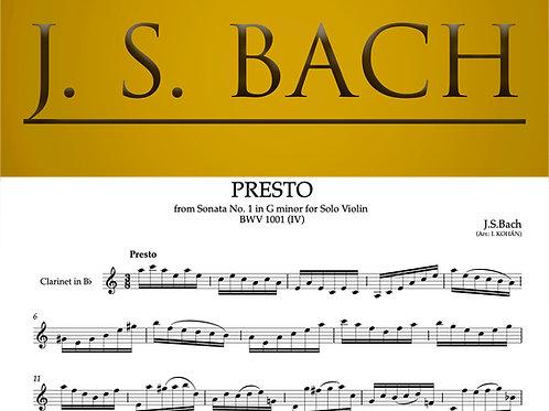 Presto - from Sonata No. 1 in G minor