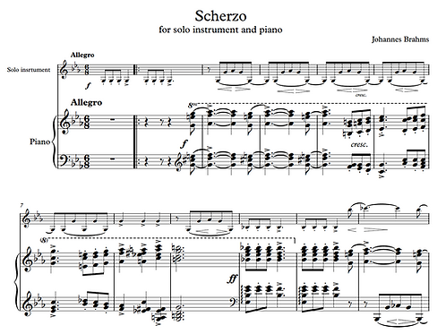 Brahms: Scherzo from FAE sonata (Clarinet and Piano)