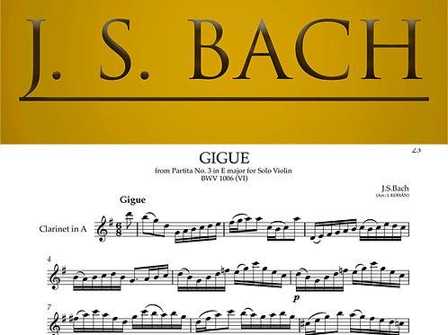 Gigue - from Partita No. 3 in E major