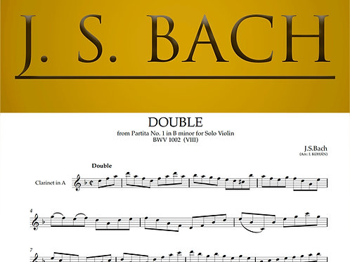 Double - from Partita No. 1 in B minor