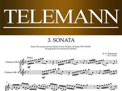 テレマン:2本のクラリネットのためのソナタ第3番