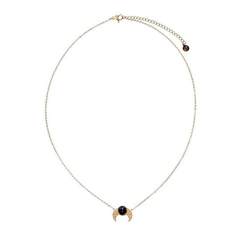 Madame croissant - necklace in RVS silver/gold