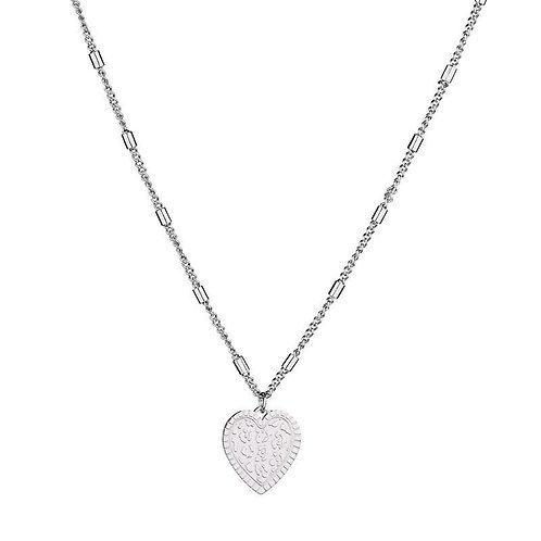 Leo's heart - necklace in RVS silver/gold