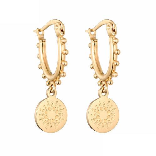 Double date - oorbellen in RVS zilver/goud