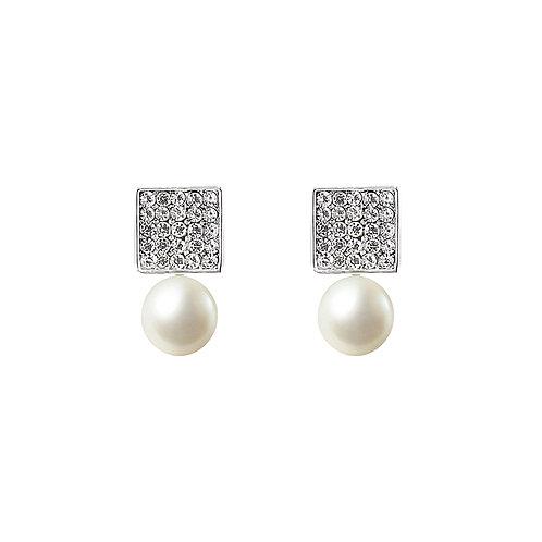 Diamond pearl - oorbellen in zilver