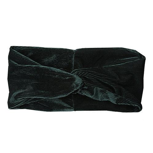Velvet corduroy rib headband in roze/bordeaux/donkerblauw/groen