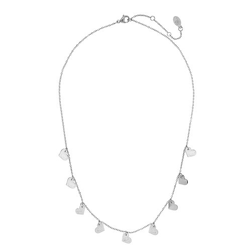 Lovely hearts - necklace in RVS silver/gold