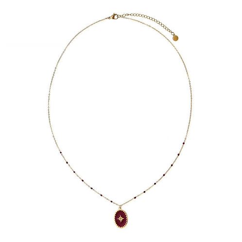 Wicked things - necklace in RVS gold/red