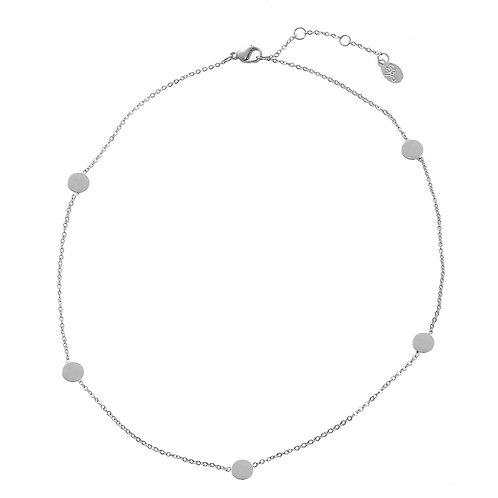 Hotspots - necklace in RVS gold/silver