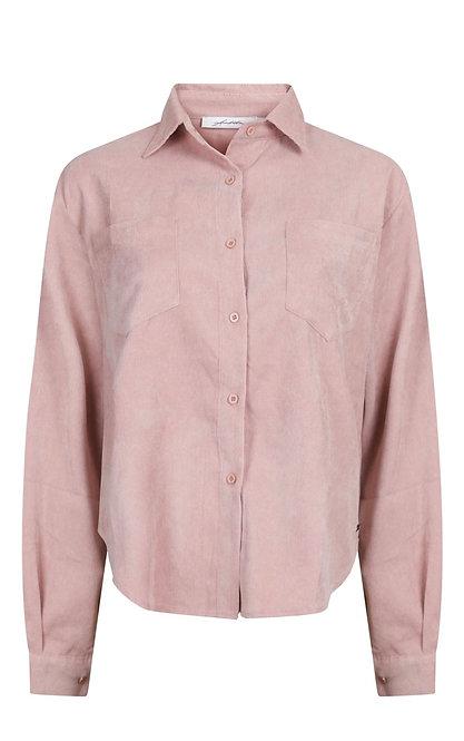 Rib blouse roze