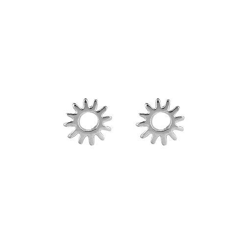 Burning sun - oorknopjes in zilver/goud