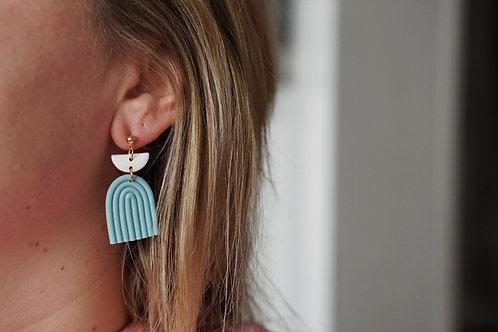 Evi - statement oorbellen in blauw
