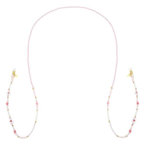 Zonnebril cord roze hartjes