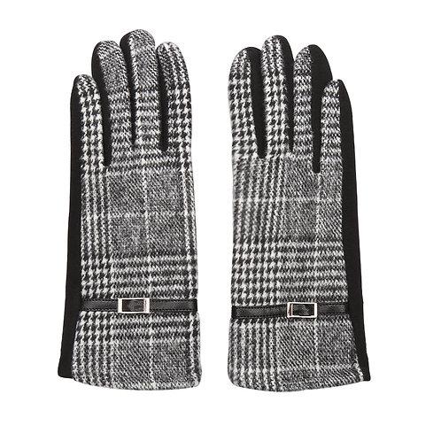 Miss elegant - gloves in checkered print