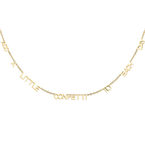 Add a little confetti to each day - ketting in RVS goud/zilver