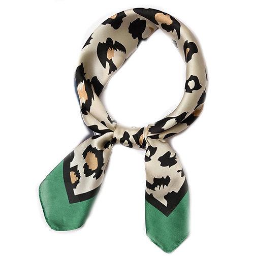 Shiny green leopard bandana