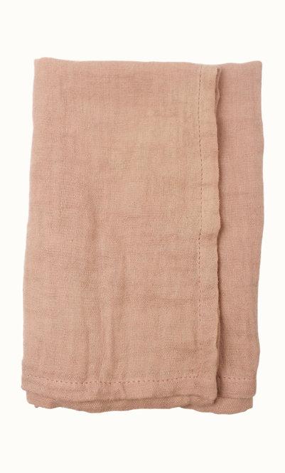 Napkins cotton gauze coral/terra (set van 2)