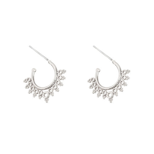 Royal sun - earrings in gold/silver