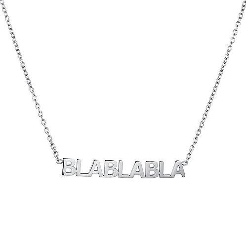 BLABLABLA - ketting in RVS goud/zilver