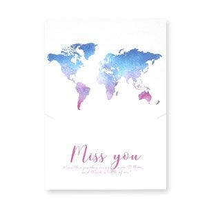 TRAVEL, MISS YOU - (sieraden) kaartje