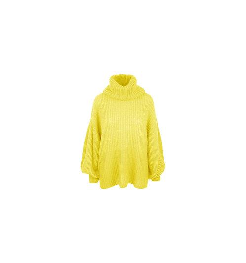 BONJOUR - trui met col (geel)
