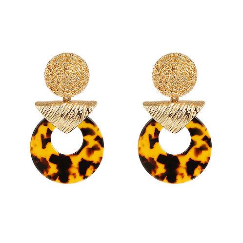 Animal contrast - oorbellen in goud