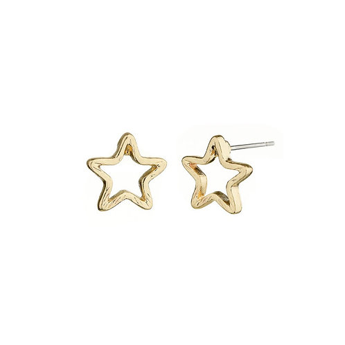 Shining star - earstuds in gold