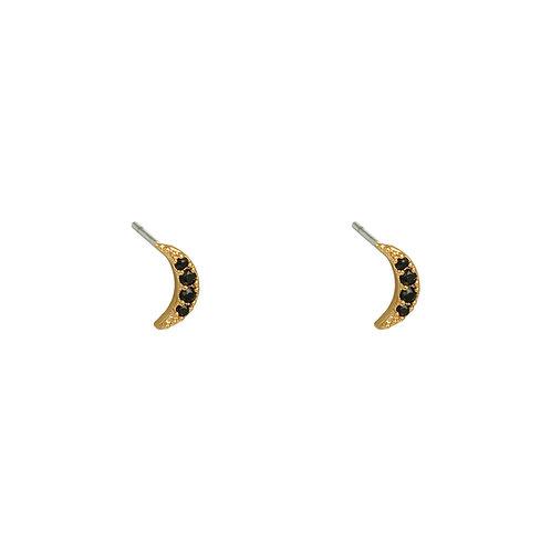 To the moon - oorbellen in zilver/goud