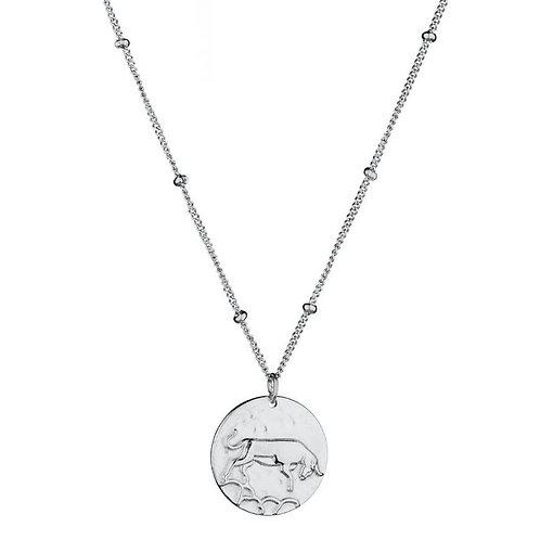 STIER - sterrenbeeldketting in RVS zilver/goud (taurus zodiacsign)