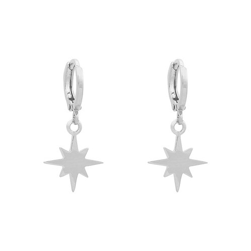 Universe star - earrings in silver/gold