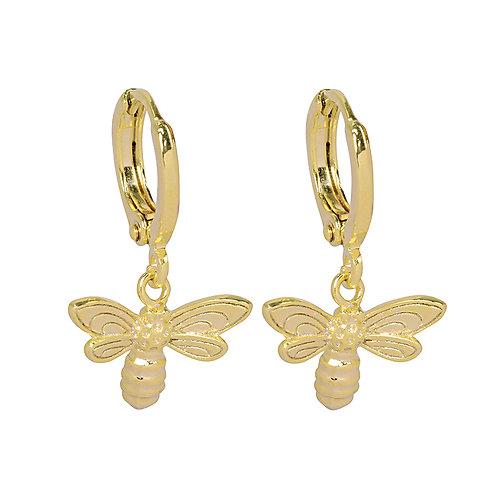 Little bee - earrings in silver/gold