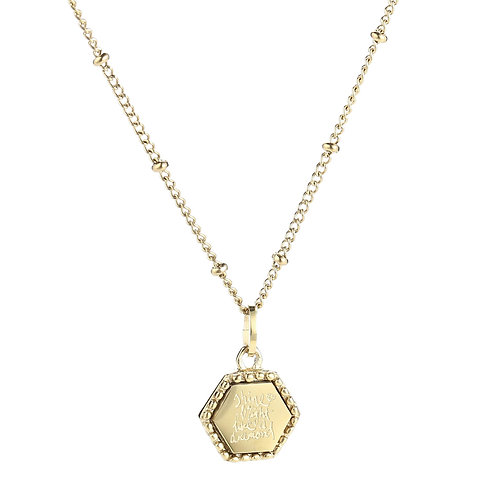 Shine bright like a diamond - ketting met quote in RVS zilver/goud