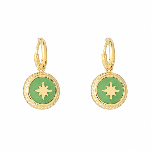 Northern star - earrings in RVS gold/silver