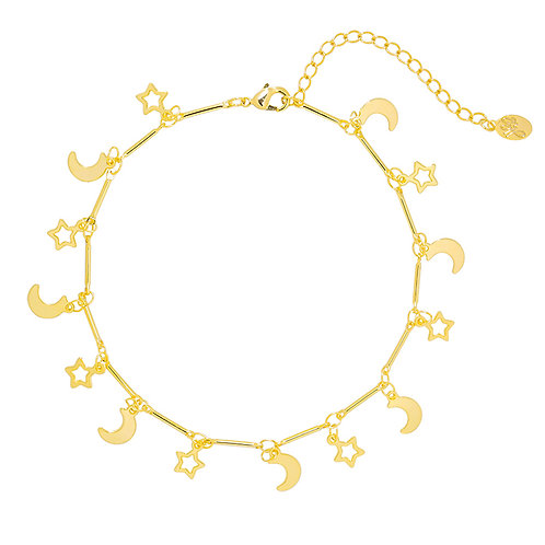 Galaxy anklet in gold