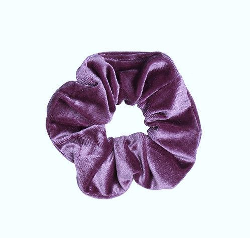 Velvet scrunchie (lichtpaars)