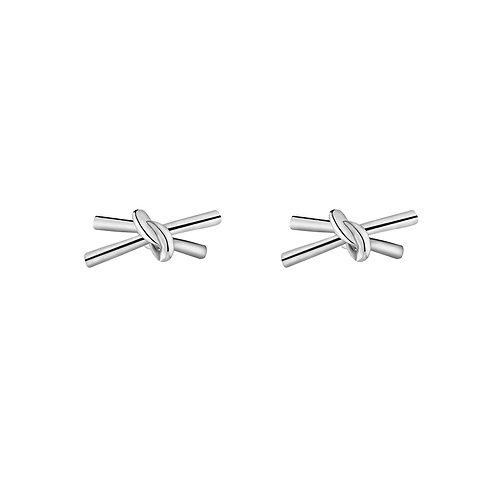 Double knot - earrings in silver/gold