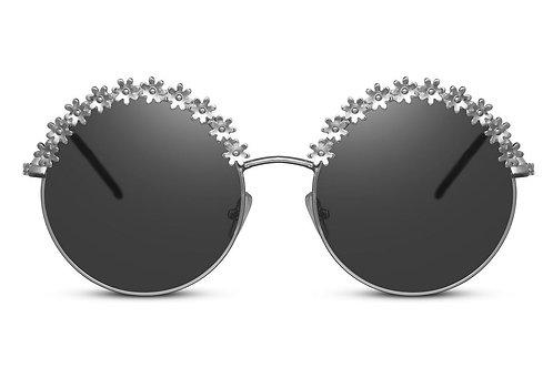 Round flowers - sunglasses in black/brown