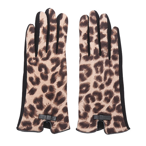 Miss leopard - gloves in brown leopard print