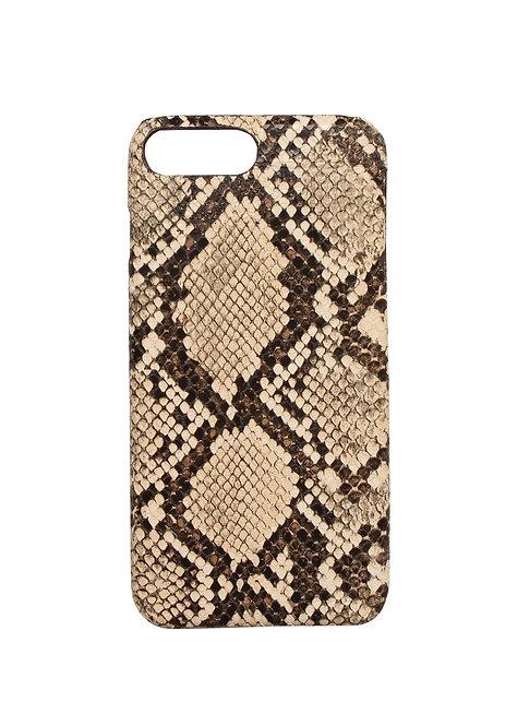 Iphone telefoonhoesje in slangenprint/snakeskin (bruin)