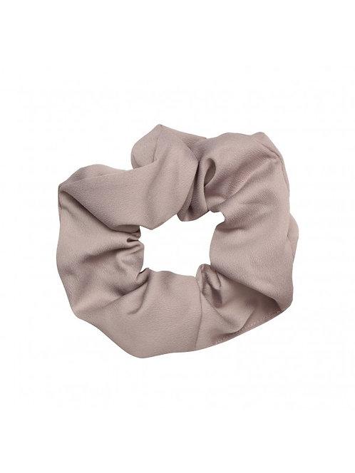 Satin scrunchie in taupe