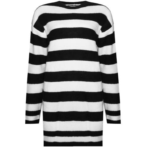 Gestreepte Trui Zwart Wit.Marshmallow Swirl Gestreepte Trui Sweaterdress In Zwart Wit