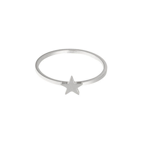 Little star - ring in RVS zilver/goud