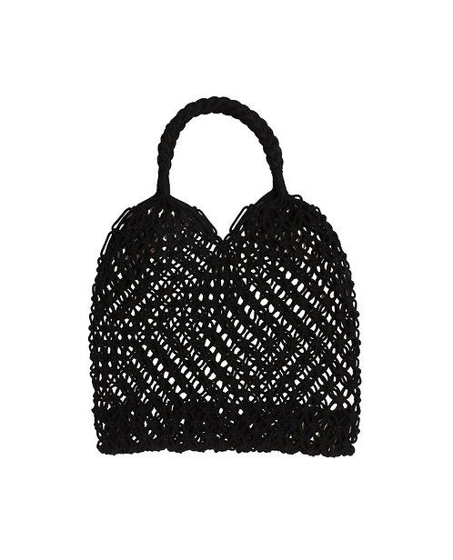 Granny style - gehaakt nettasje (zwart)