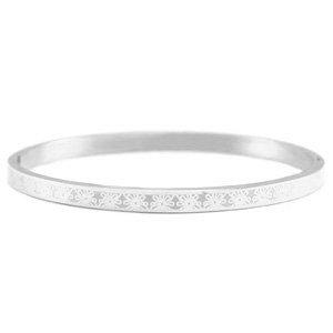 Little roses - RVS bracelet in silver